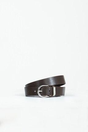 Collezione Kahverengi Oval Metal Tokalı Kadın Kemer