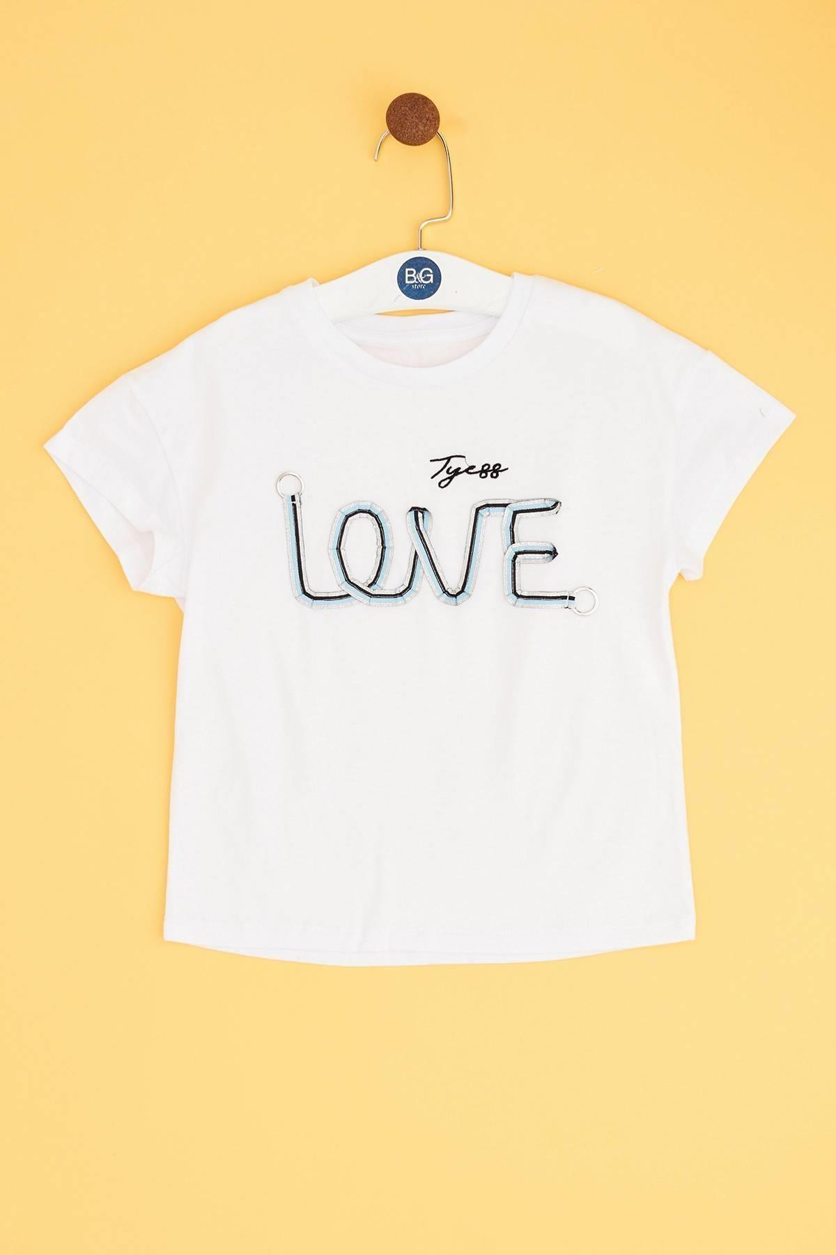Tyess Kız Çocuk Beyaz T-shirt 1