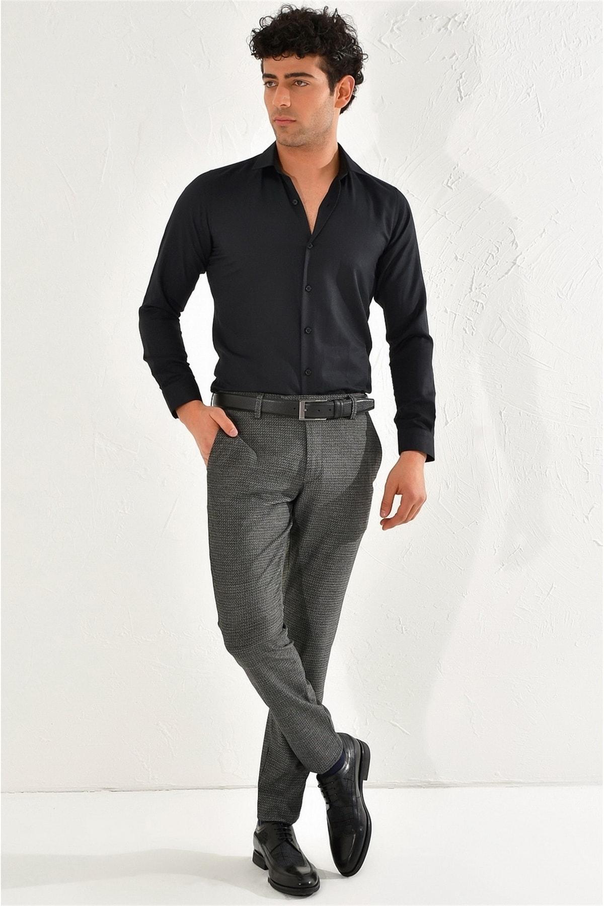 Efor P 1065 Slim Fit Siyah Spor Pantolon 1