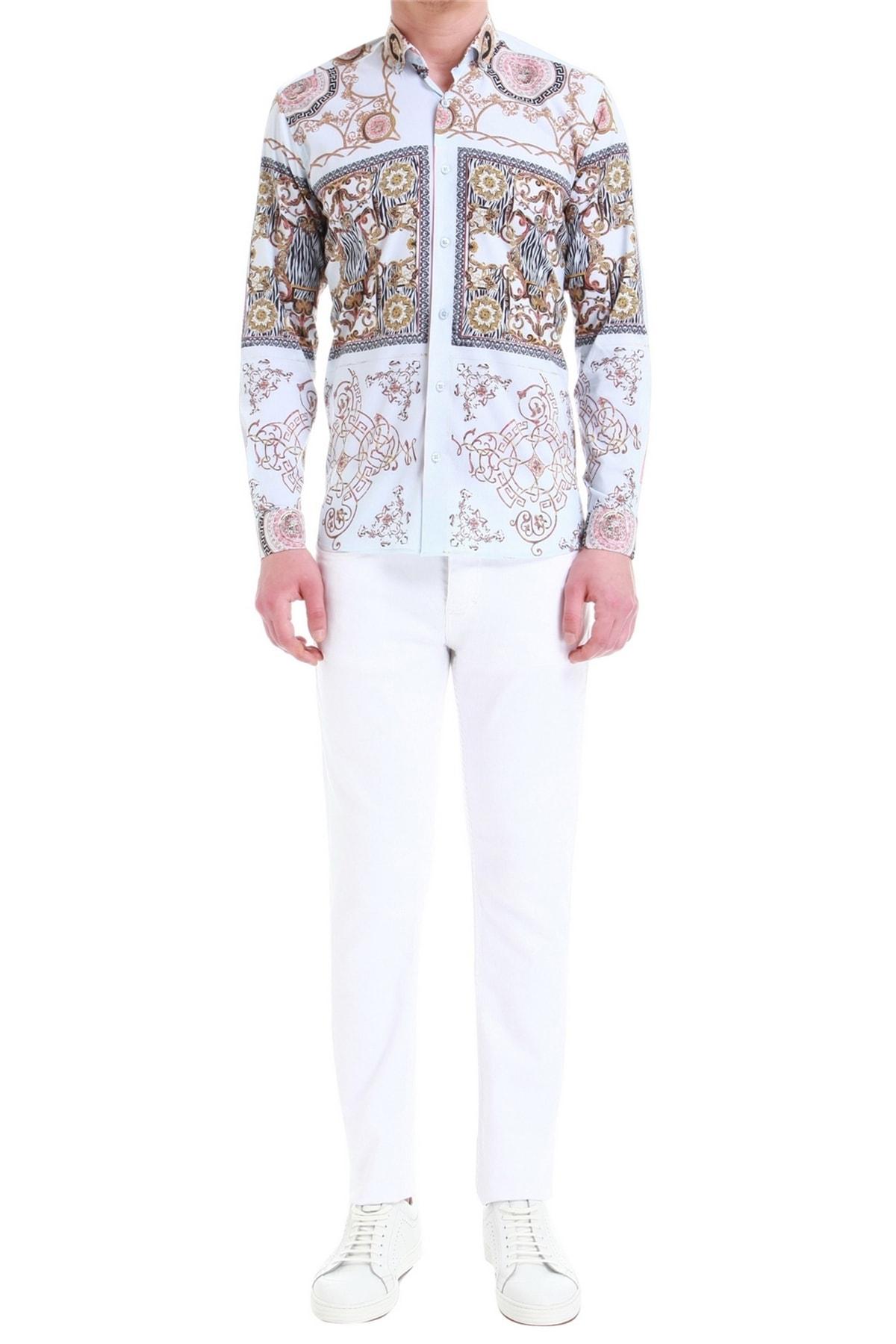 Efor 033 Slim Fit Beyaz Jean Pantolon 1