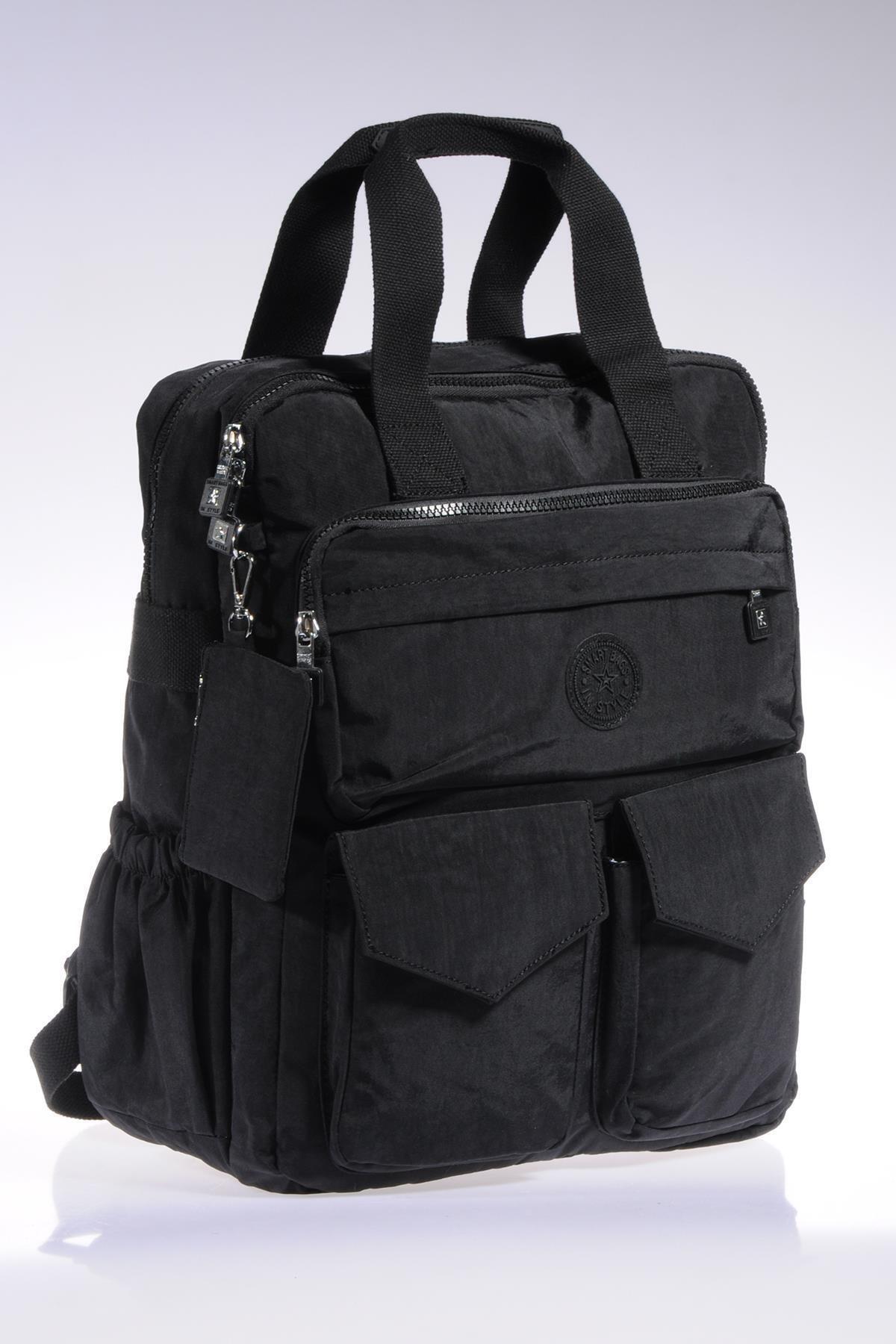 SMART BAGS Smb1175-0001 Siyah Kadın Sırt Çantası 2