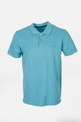 Jakamen Petrol Slim Fit Polo Yaka T-shirt