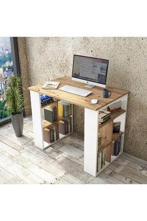 Yurudesign Bremen Çalışma Masası Kitaplık Çam-beyaz Br1-aw