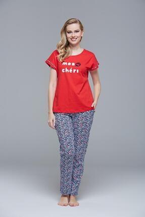 PJS 21413 Kadın Kısa Kollu Pijama Takım