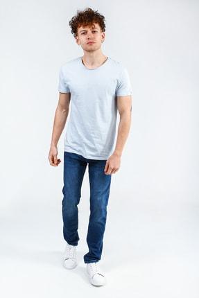 Collezione Buz Mavisi Erkek Somon Spor Regular Kısa Kol T-shirt