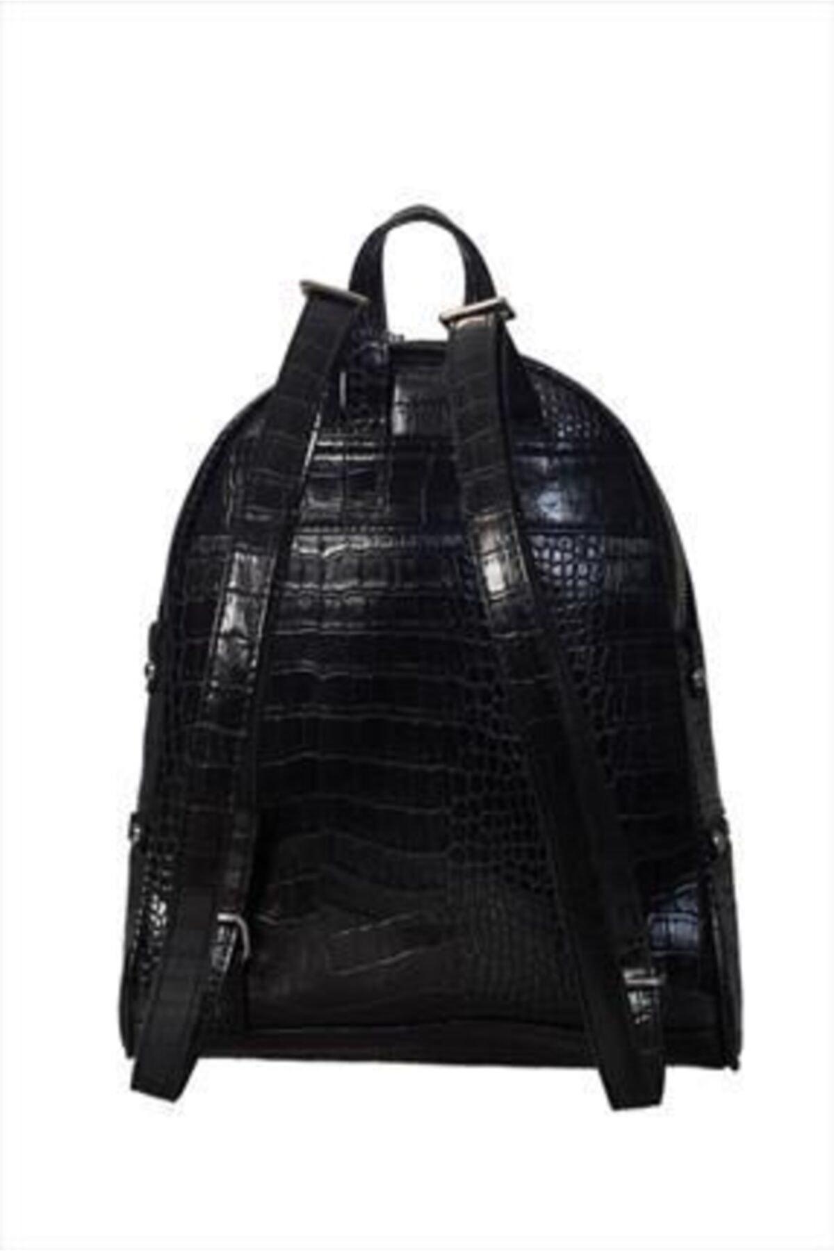 Sergio Giorgianni Luxury Sg1584 Siyah Krk Kadın Sırt Çantası 2