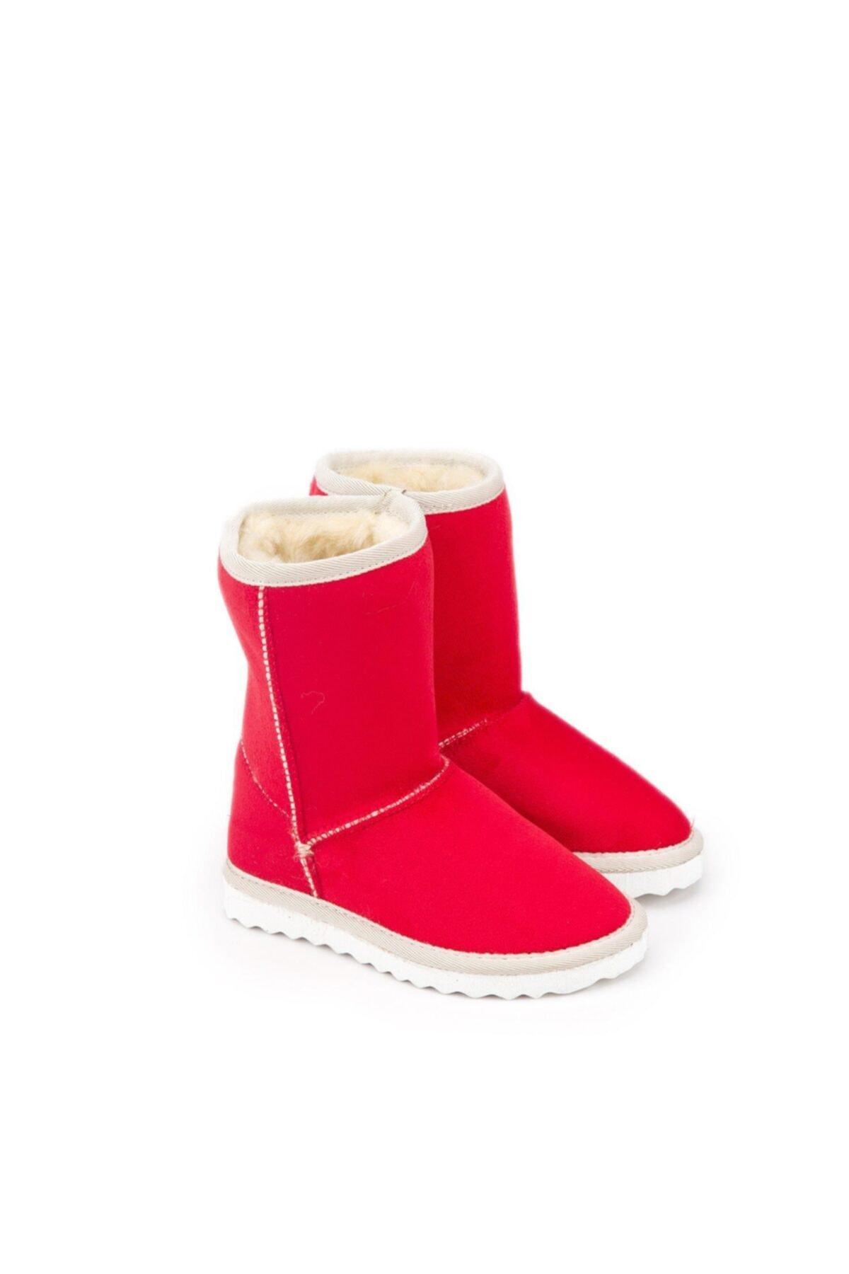 Antarctica Boots Klasik Içi Kürklü Eva Taban Süet Kırmızı Çocuk Bot 1