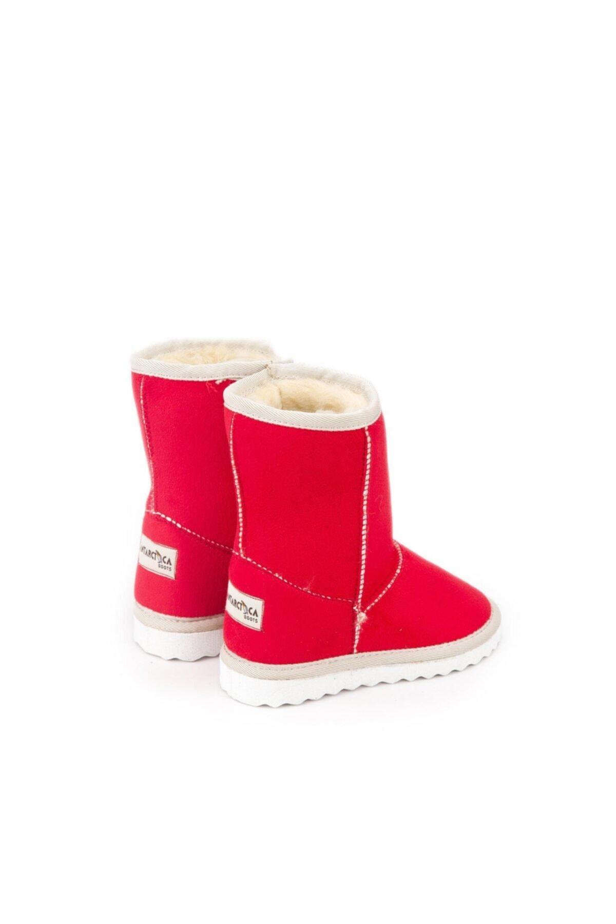 Antarctica Boots Klasik Içi Kürklü Eva Taban Süet Kırmızı Çocuk Bot 2