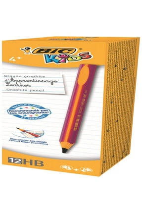 Bic Kids Evolution Jumbo Üçgen Kurşun Kalem Pembe 919263 (1 Paket 12 Adet)