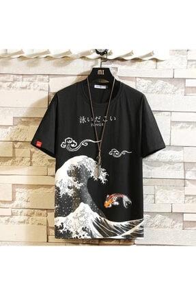 Köstebek Katsushika Hokusai – The Great Wave Allover Unisex T-shirt