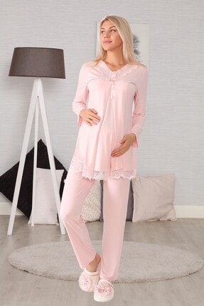 lohusahamile Lohusa Hamile 6032 Pudra Lohusa Pijama Takımı