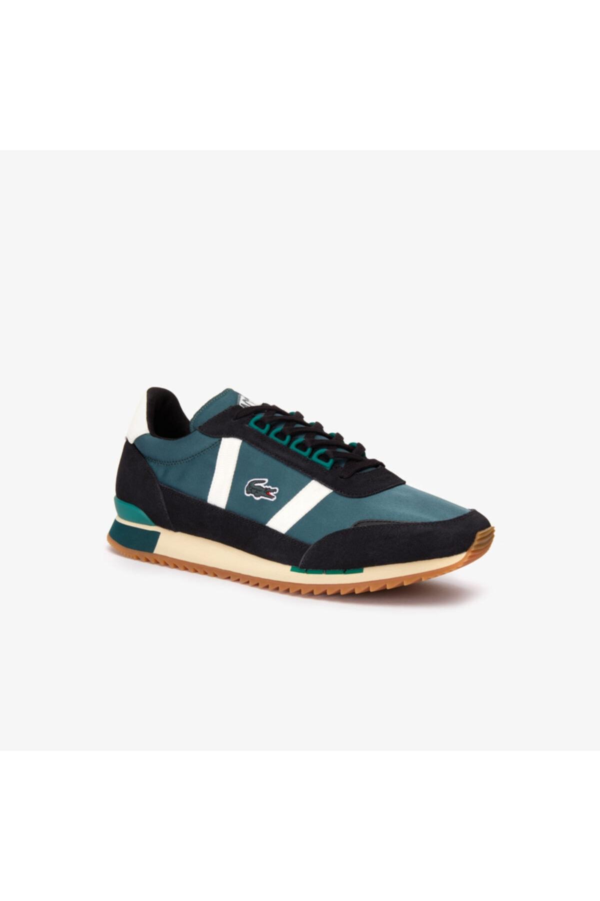 Lacoste Partner Retro 319 1 Sma Erkek Koyu Yeşil - Bej Sneaker 1