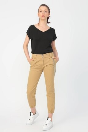 Loft Kadın Regular Fit Pantolon Bej Lf2023463
