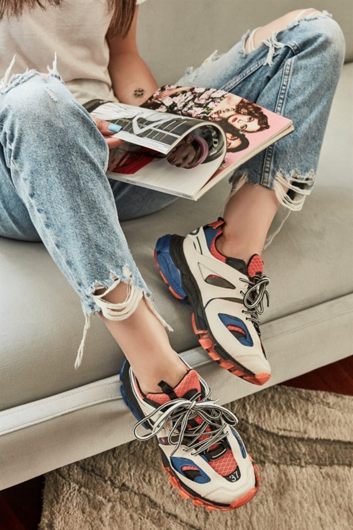 Bambi Turuncu/bej Kadın Sneaker 1