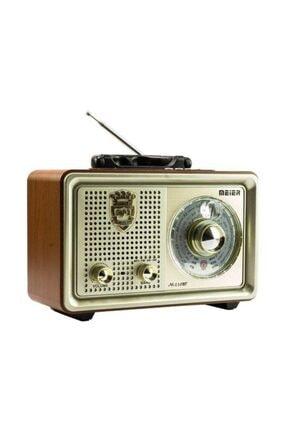 Meier M-110bt Şarjlı Nostaljik Bluetooth Fm Radyo Usb/sd/mp3