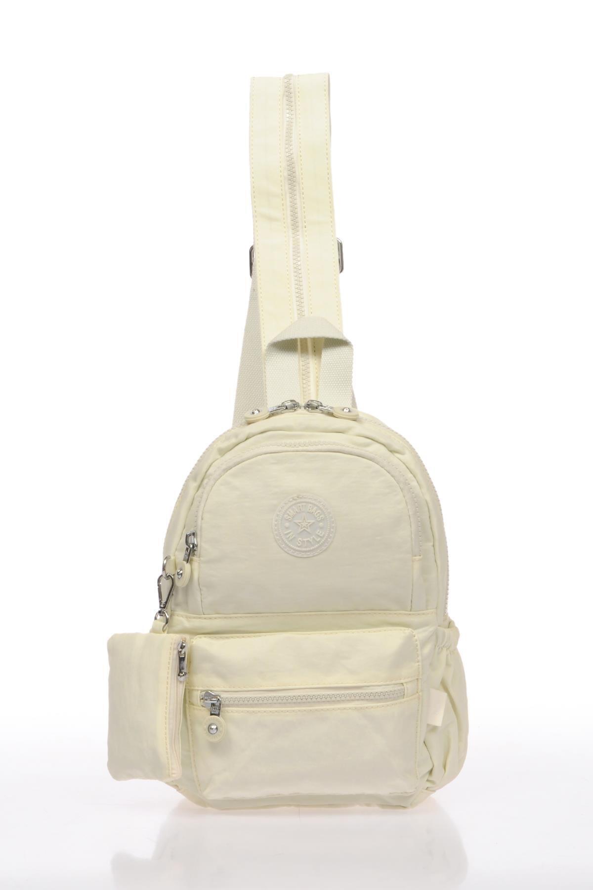 SMART BAGS Smb1030-0002 Beyaz Kadın Küçük Sırt Çantası 1