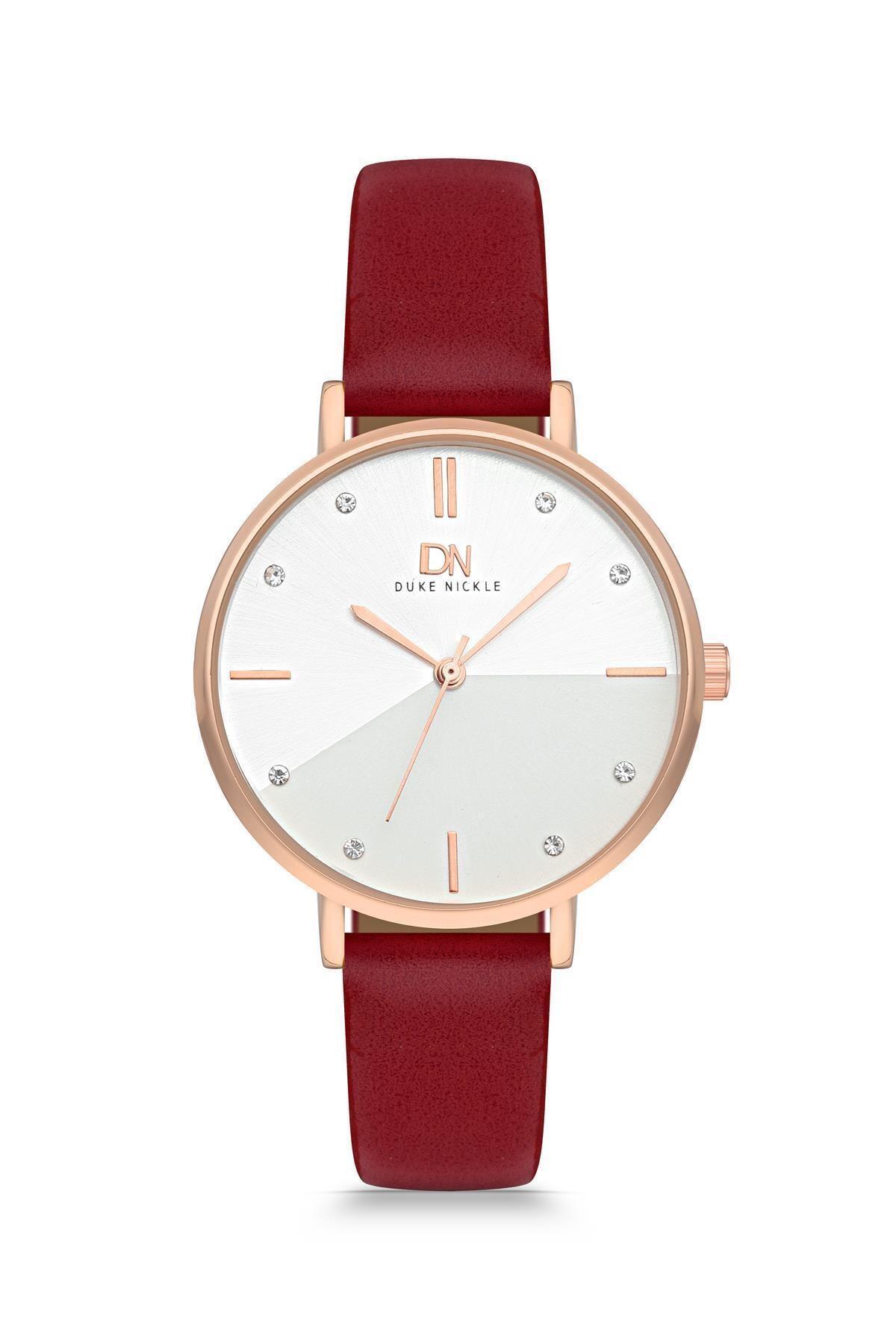 Duke Nickle Dba1022 Kadın Kol Saati Deri Kırmızı 2
