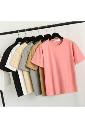 Köstebek Unisex  Kırmızı Düz Renk T-shirt