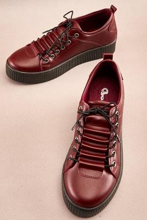 Bambi Bordo Kadın Sneaker K0586030209