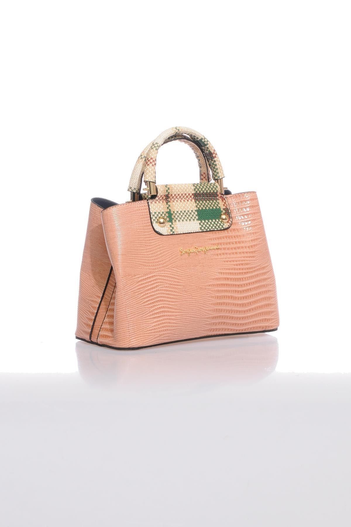 Sergio Giorgianni Luxury Sg0716 Pudra Kadın Omuz Çantası 2