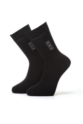 ORBİS 3'lü Erkek Konçta Ekose Desenli Çorap 4409-a3