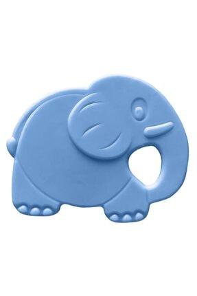 Bambino Kauçuk Yumuşak Diş Kaşıyıcı - Fil Figürlü Mavi