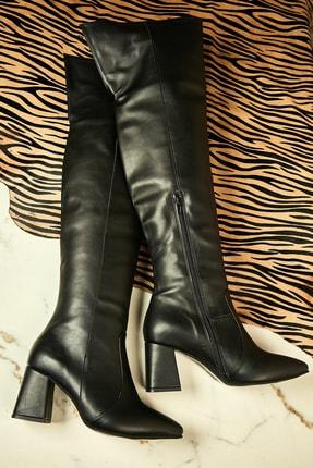Bambi Siyah Kadın Çizme K0639040209