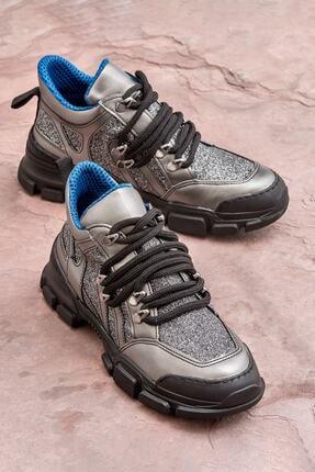 Elle Shoes Duena Kurşun Kadın Bot
