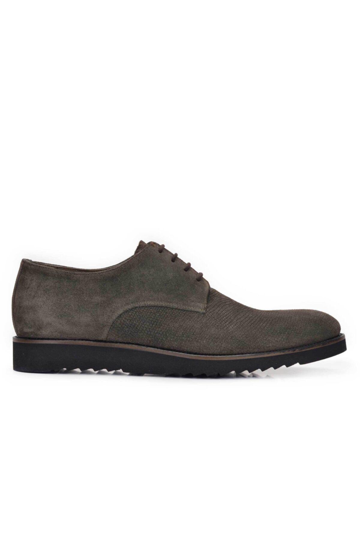 Nevzat Onay Hakiki Deri Haki Günlük Bağcıklı Erkek Ayakkabı -10425- 1