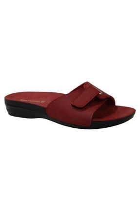 Ceyo Marina-1 Kırmızı Ortapedik Bayan Terlik & Sandalet