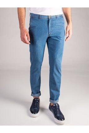 Dufy Mavi Denim Pamuk Likra Karışımlı Erkek Kot Pantolon - Regular Fıt