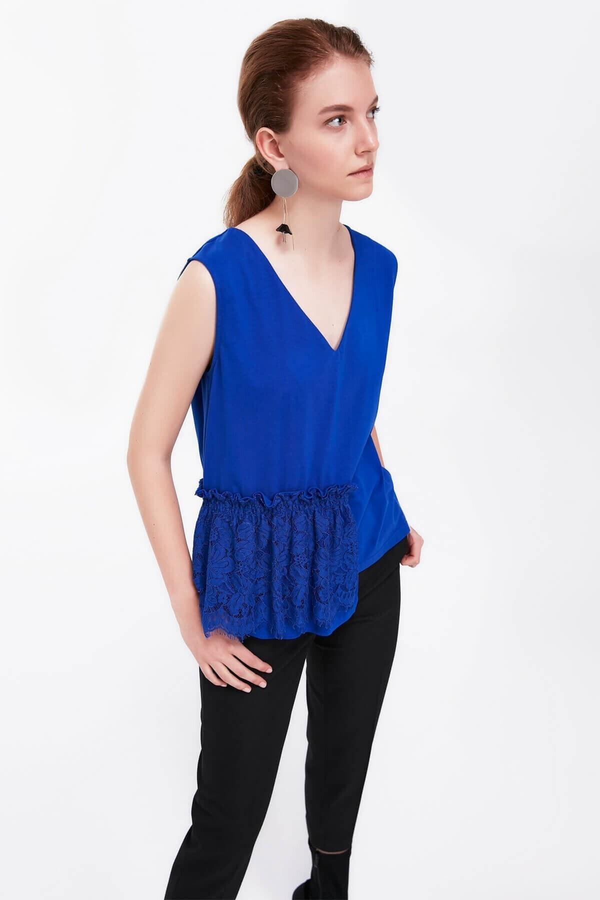 İpekyol Kadın Bluz - Saks 2