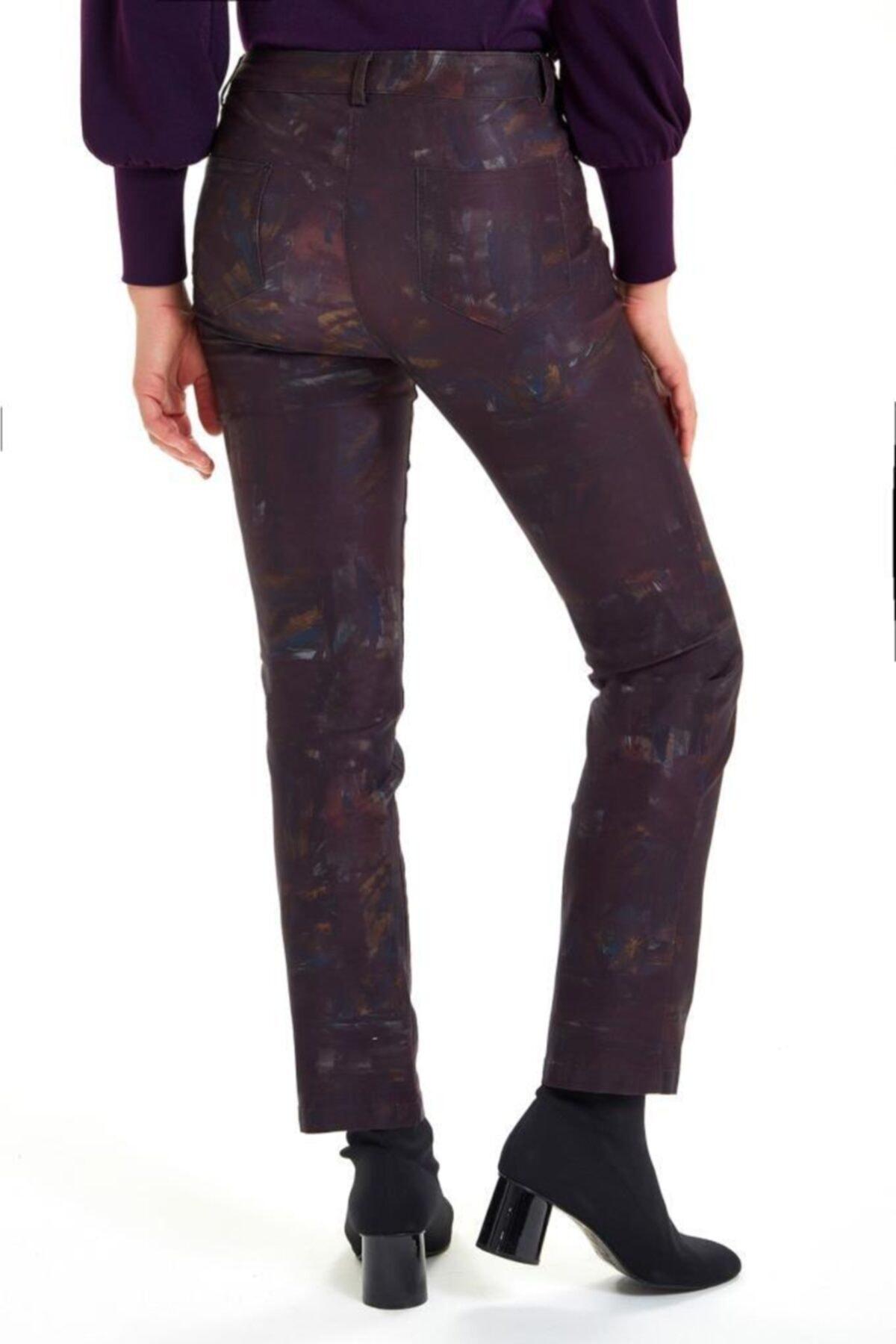 İKİLER Beş Cepli Desenli Pantolon 201-3507 1