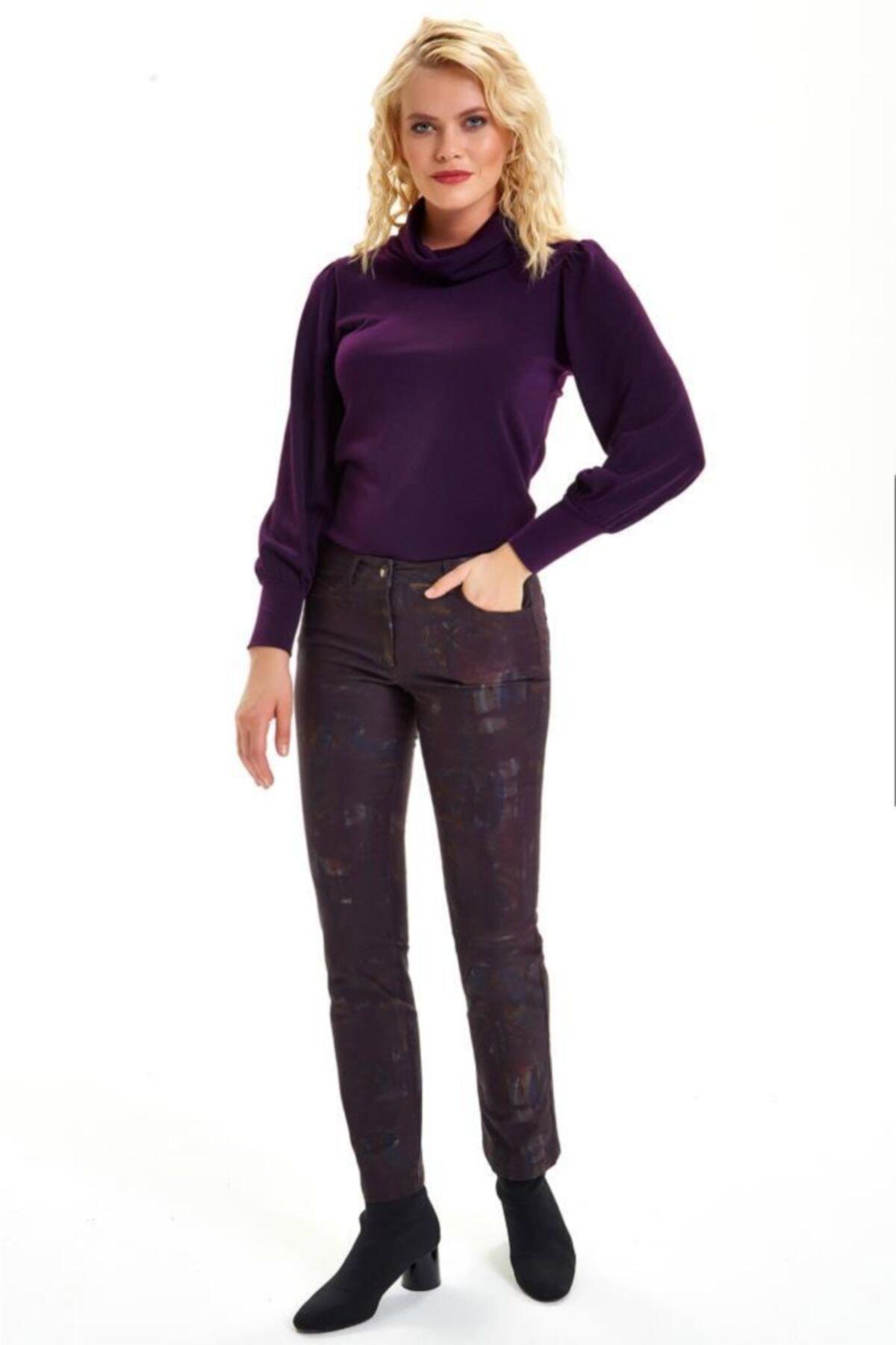 İKİLER Beş Cepli Desenli Pantolon 201-3507 2