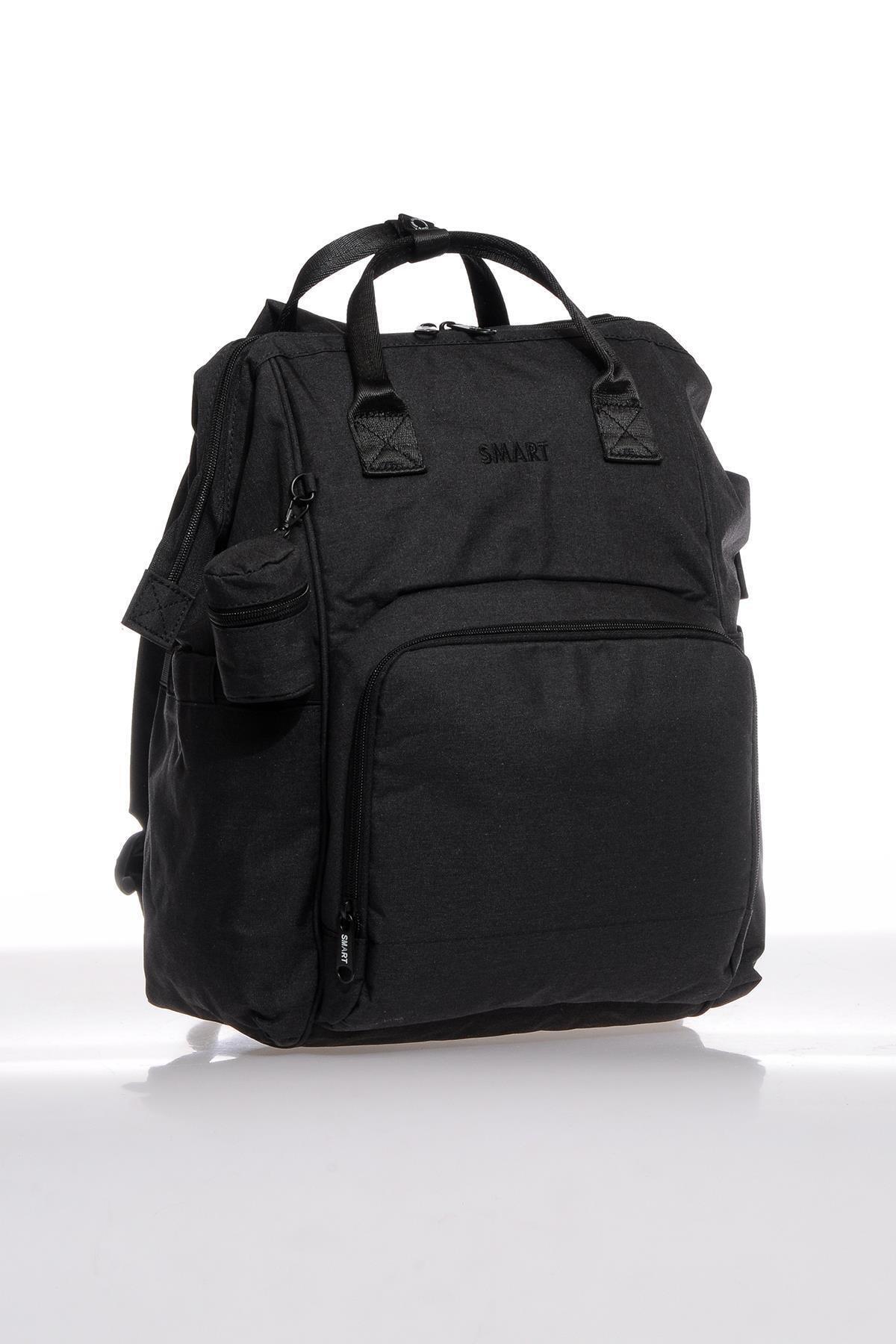 SMART BAGS Smb2007-0001 Siyah Kadın Bebek Bakım Sırt Çantası 2