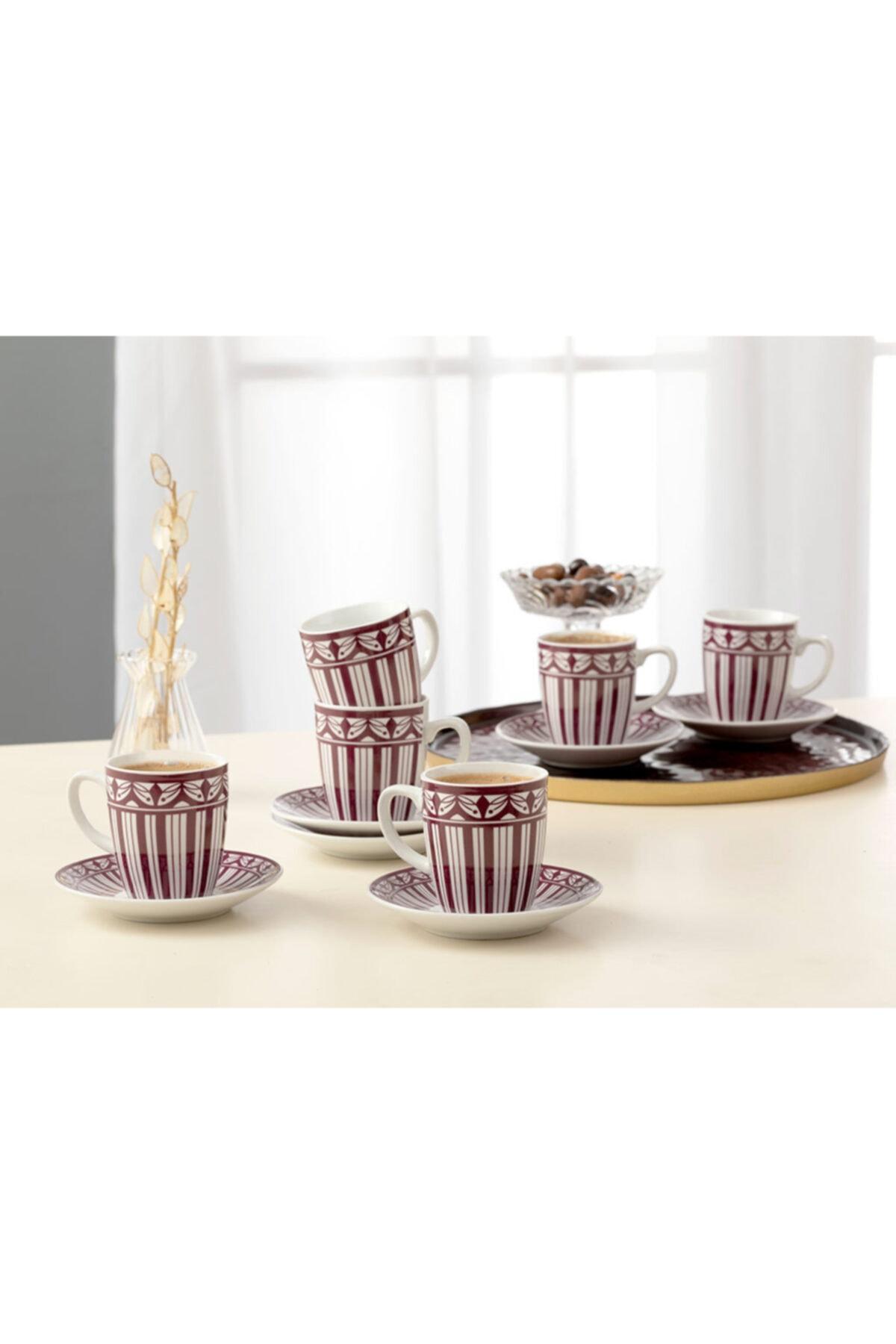 English Home Galio Porselen 12 Parça Kahve Fincan Takımı 100 ml Mor 2