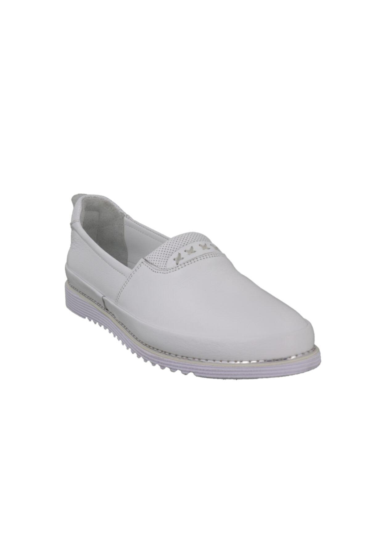 Hobby Divadonna Beyaz Deri Günlük Kadın Ayakkabı 8672 2