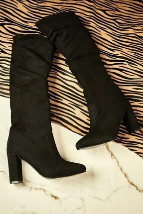 Bambi Siyah Kadın Çizme K05036100