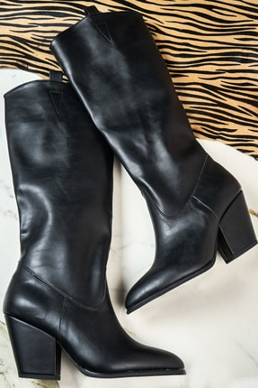 Bambi Siyah Kadın Çizme K06390550
