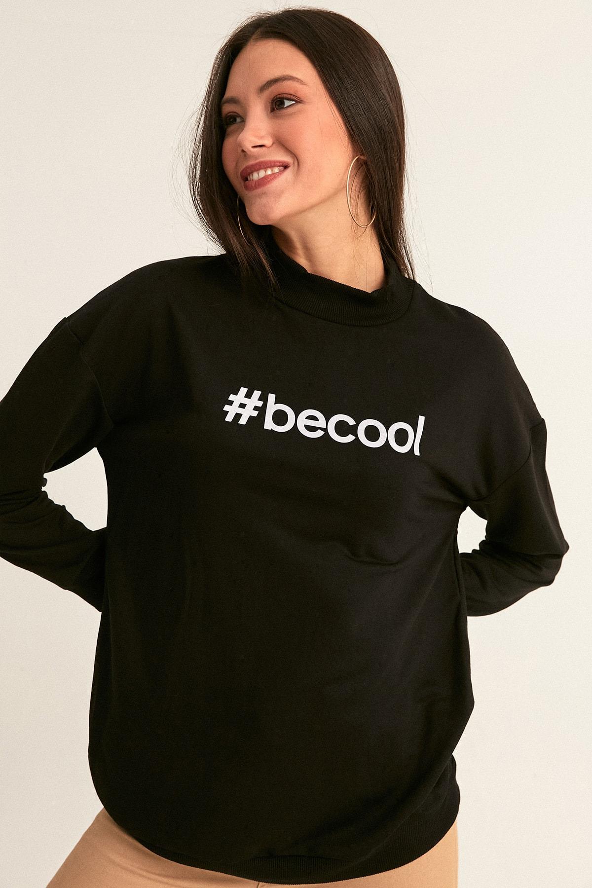 Fulla Moda Becool Baskılı Sweatshirt 1