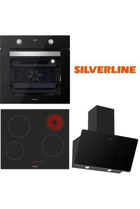 Silverline Siyah Cam Ankastre Set Bo6502b02 - Vc5446b01 - 3457 Soho