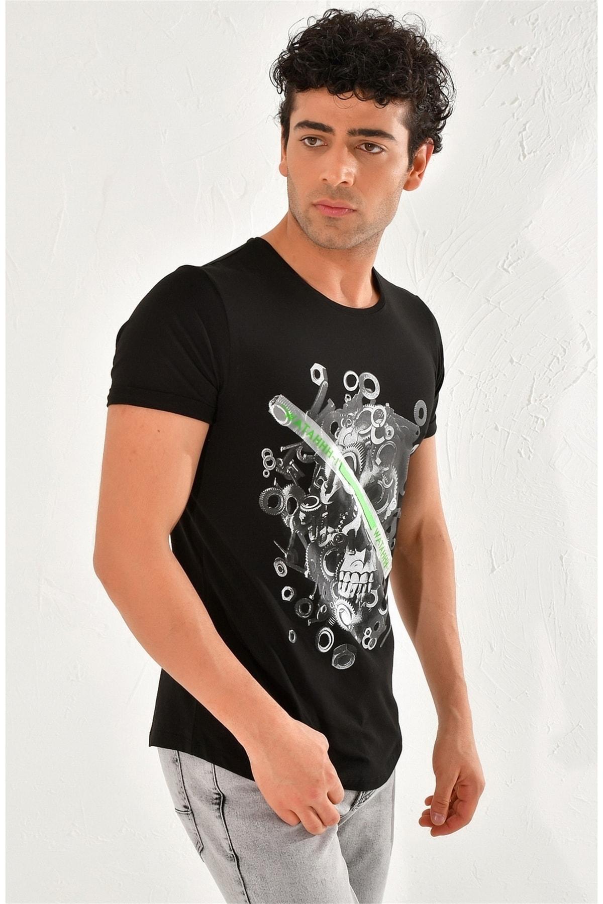 Efor Ts 759 Slim Fit Siyah Spor T-shirt 1