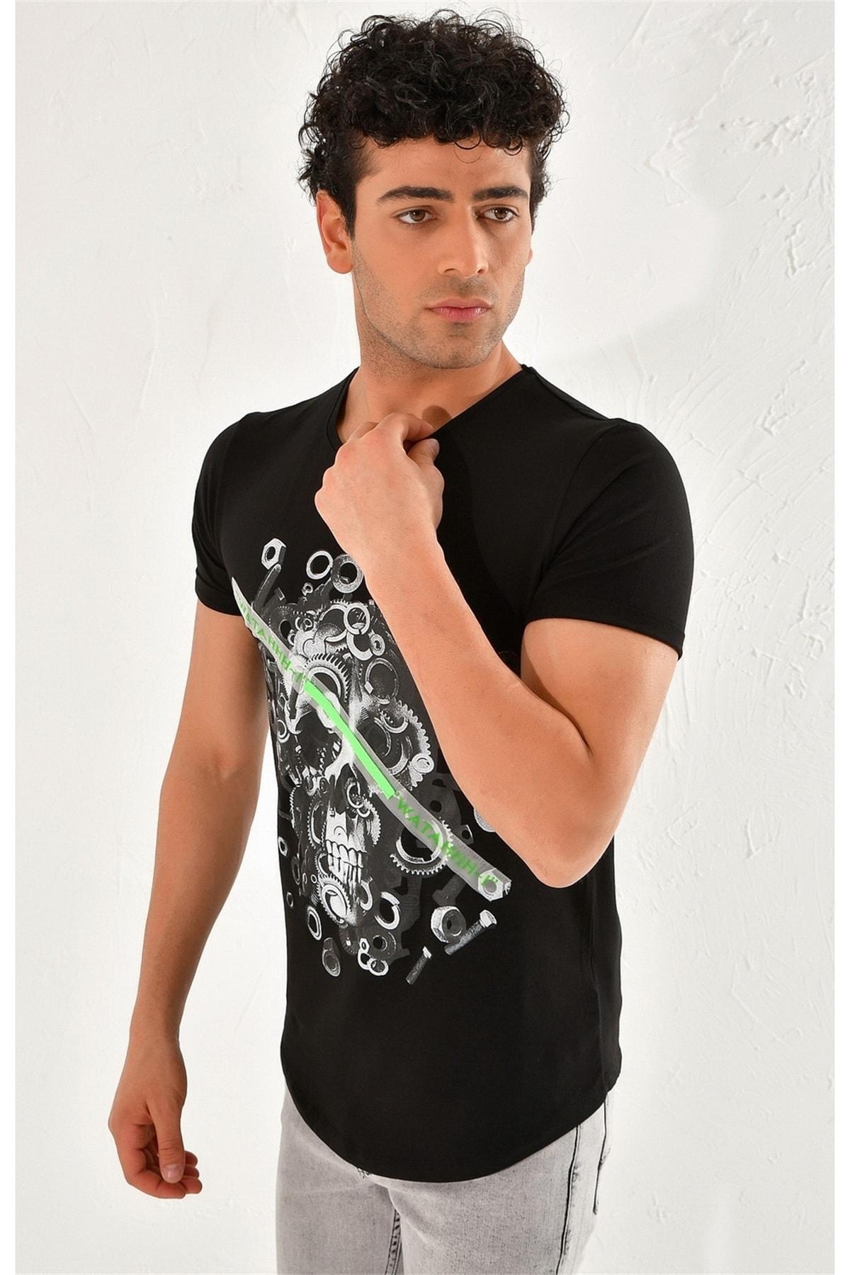 Efor Ts 759 Slim Fit Siyah Spor T-shirt 2