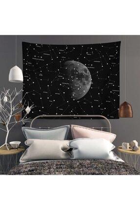 Trendiz Star Moon Siyah Duvar Halısı W20012