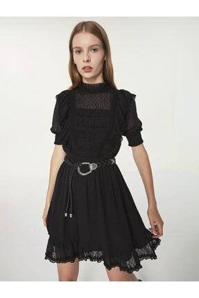 Twist Puantiye Jakarlı Tül Elbise