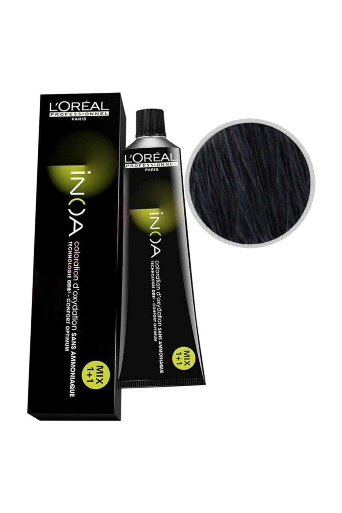 İNOA Saç Boyası 2.10 Yoğun Mavi Siyah 60 ml 1
