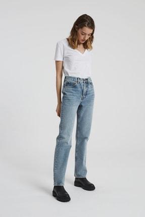 CROSS JEANS Dıana Orta Taş Indigo Yüksel Bel Dad Straight Fit Pantolon