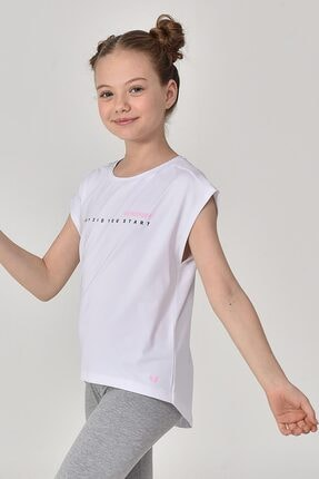 bilcee Beyaz Kız Çocuk T-shirt Gs-8158