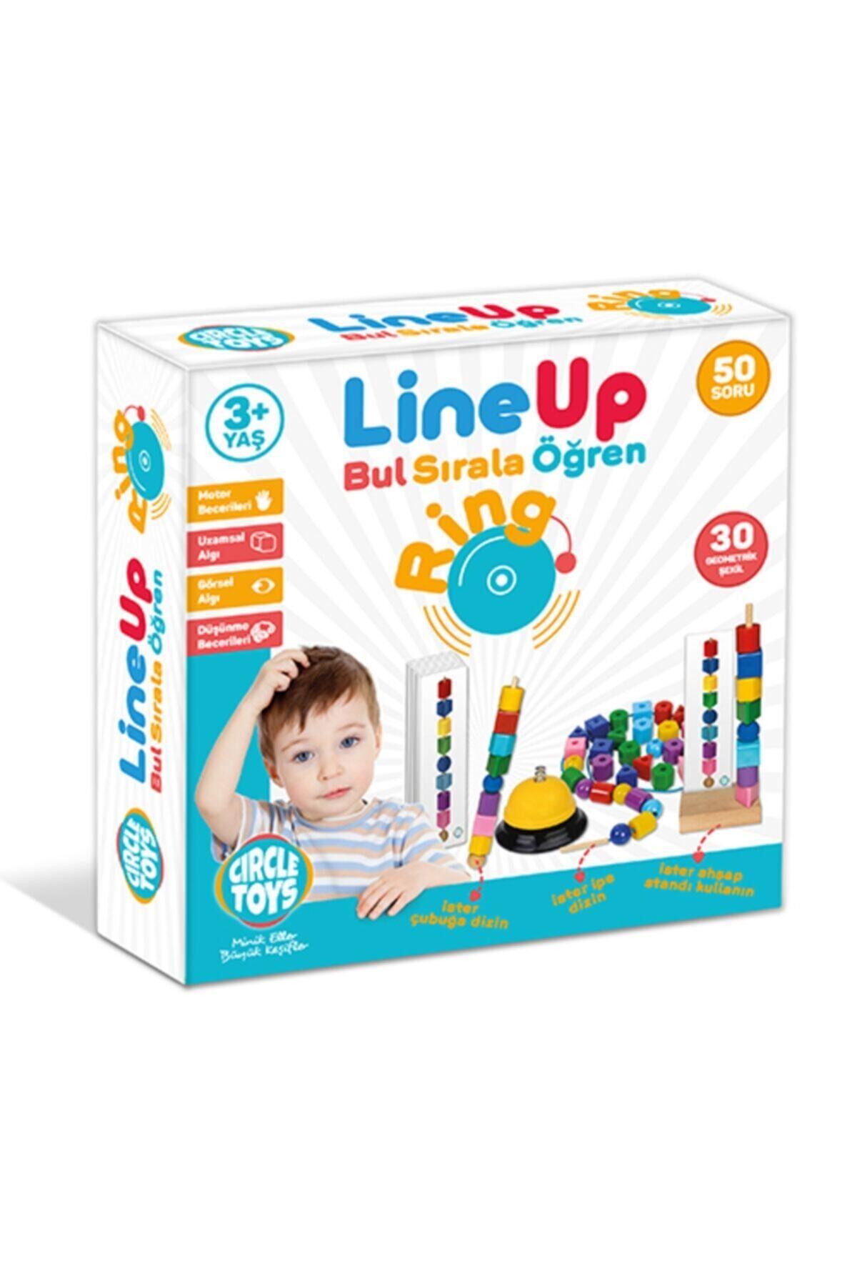 Circle Toys Line Up Ring - Bul Sırala Öğren 50 Soru 30 Geometrik Şekil Eğitim Seti 1