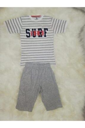 Wonder Kıds Erkek Çocuk Gri Bermuda Pijama Takımı 130651